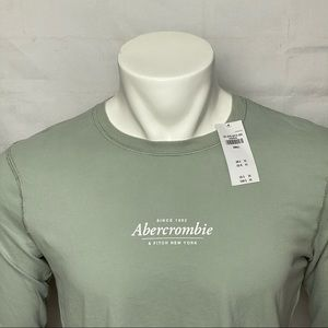 Abercrombie & Fitch Sage Color Long Sleeve Shirt